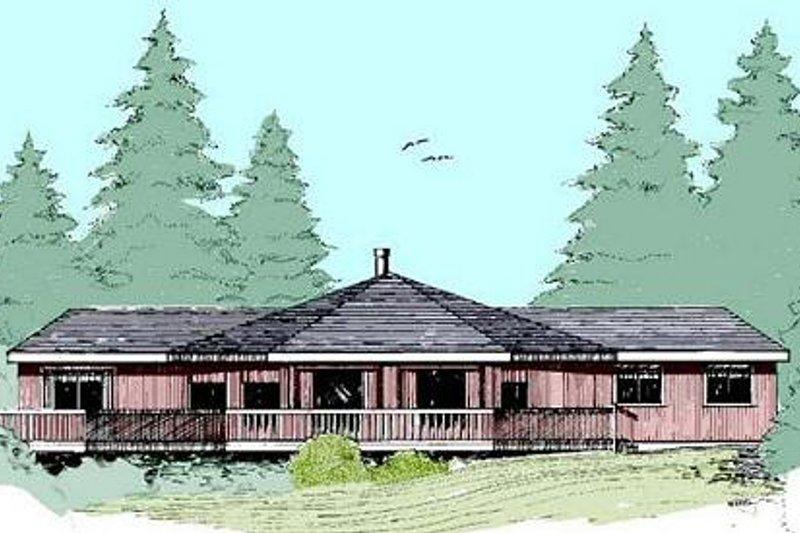 Modern Exterior - Front Elevation Plan #60-390 - Houseplans.com
