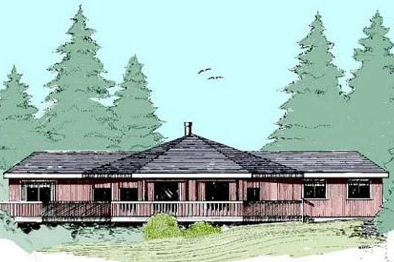 Dream House Plan - Modern Exterior - Front Elevation Plan #60-390