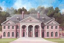 Classical Exterior - Front Elevation Plan #119-217