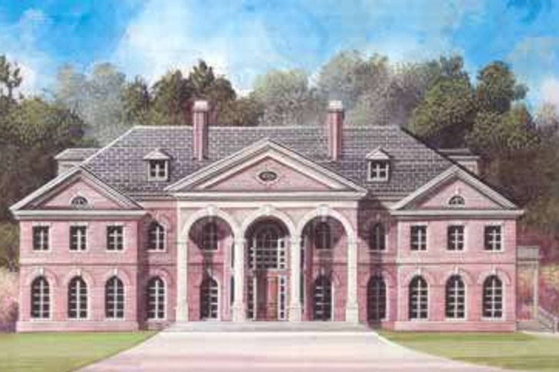 Classical Style House Plan - 6 Beds 6 Baths 9032 Sq/Ft Plan #119-217 Exterior - Front Elevation