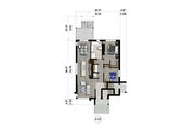 Contemporary Style House Plan - 6 Beds 3 Baths 3555 Sq/Ft Plan #25-4555 Floor Plan - Main Floor
