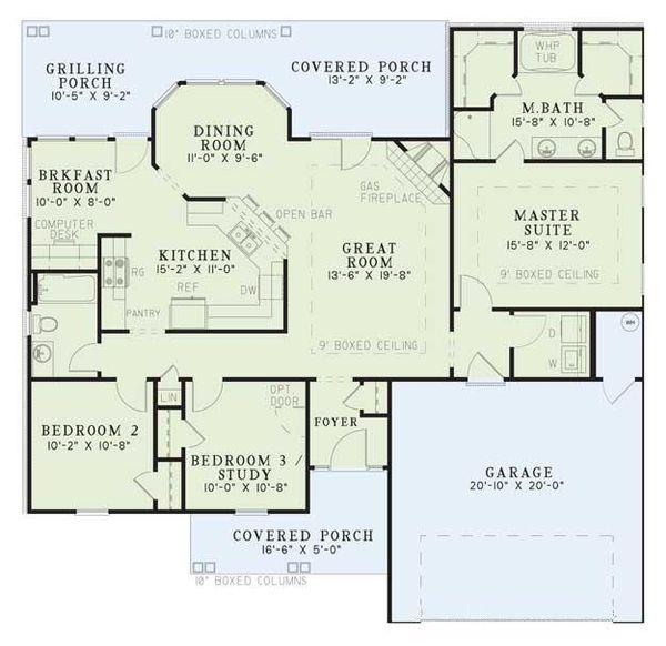 Traditional Floor Plan - Main Floor Plan Plan #17-114