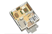 European Style House Plan - 3 Beds 1 Baths 1740 Sq/Ft Plan #25-4698 Floor Plan - Main Floor Plan