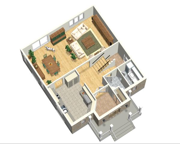 European Floor Plan - Main Floor Plan Plan #25-4698