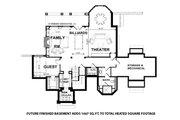 Craftsman Style House Plan - 4 Beds 3.5 Baths 4968 Sq/Ft Plan #928-32 Floor Plan - Lower Floor Plan