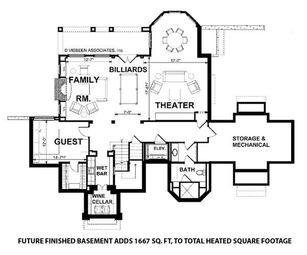 Dream House Plan - Future Finished Basement
