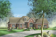 European Style House Plan - 3 Beds 2 Baths 2576 Sq/Ft Plan #25-4330 Exterior - Front Elevation