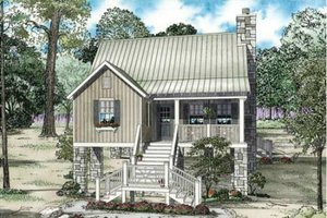 Cottage Exterior - Front Elevation Plan #17-2357