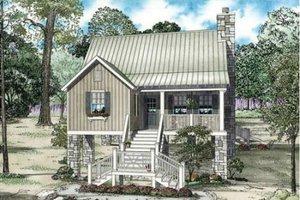 Cottage Exterior - Front Elevation Plan #17-2357
