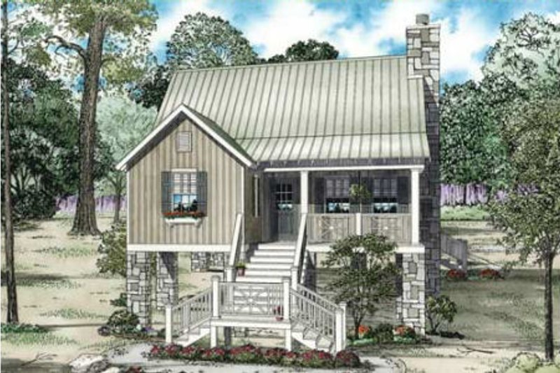 Cottage Style House Plan - 2 Beds 2 Baths 1178 Sq/Ft Plan #17-2357