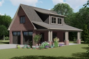 European Exterior - Front Elevation Plan #1064-10
