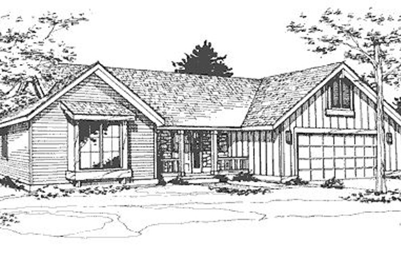 Country Exterior - Front Elevation Plan #320-433 - Houseplans.com