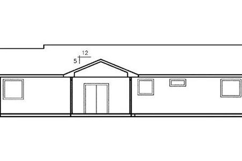 Ranch Exterior - Rear Elevation Plan #60-255 - Houseplans.com