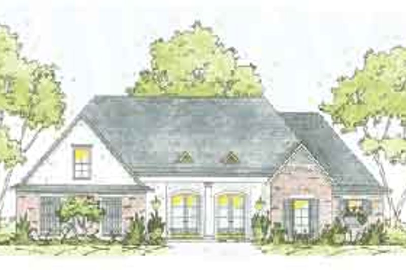 European Exterior - Front Elevation Plan #36-444