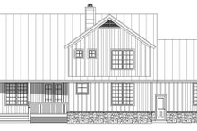 Dream House Plan - Farmhouse Exterior - Rear Elevation Plan #932-137