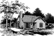 Cottage Style House Plan - 2 Beds 2 Baths 988 Sq/Ft Plan #30-195 Exterior - Front Elevation