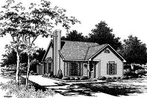 Cottage Exterior - Front Elevation Plan #30-195