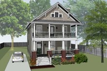 Dream House Plan - Craftsman Exterior - Front Elevation Plan #79-267