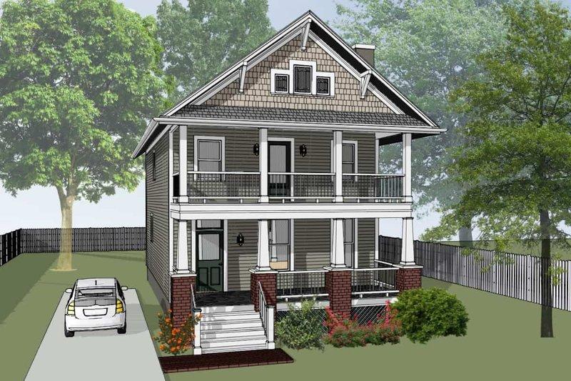 House Plan Design - Craftsman Exterior - Front Elevation Plan #79-267