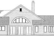 House Blueprint - Traditional Exterior - Rear Elevation Plan #72-471