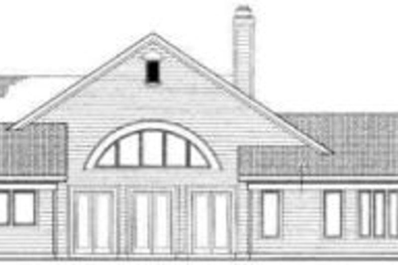Traditional Exterior - Rear Elevation Plan #72-471 - Houseplans.com