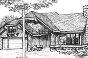 Cottage Style House Plan - 3 Beds 2 Baths 1485 Sq/Ft Plan #320-469 Exterior - Front Elevation