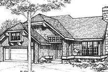 Home Plan - Cottage Exterior - Front Elevation Plan #320-469
