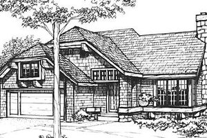 Cottage Exterior - Front Elevation Plan #320-469