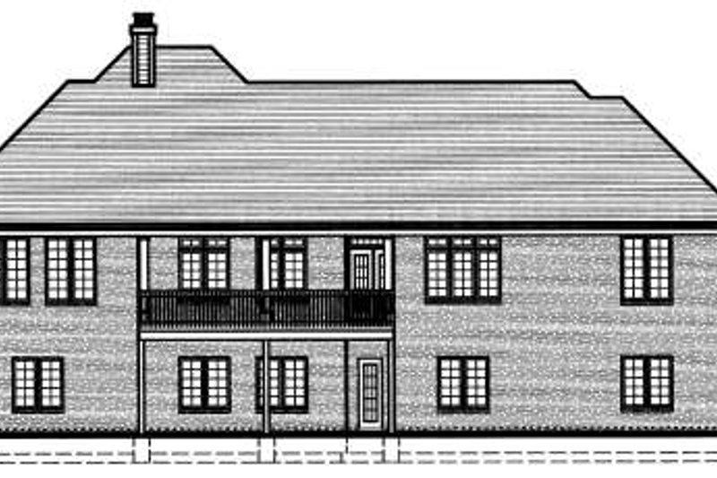European Exterior - Rear Elevation Plan #46-403 - Houseplans.com