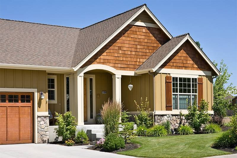Craftsman Exterior - Front Elevation Plan #48-414 - Houseplans.com