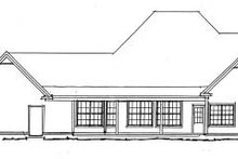Farmhouse Exterior - Rear Elevation Plan #20-342