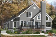 Contemporary Style House Plan - 3 Beds 2.5 Baths 2162 Sq/Ft Plan #23-613 Exterior - Front Elevation