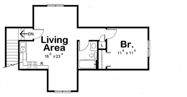 Traditional Floor Plan - Upper Floor Plan Plan #20-2310