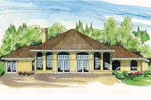Home Plan - Exterior - Rear Elevation Plan #124-981
