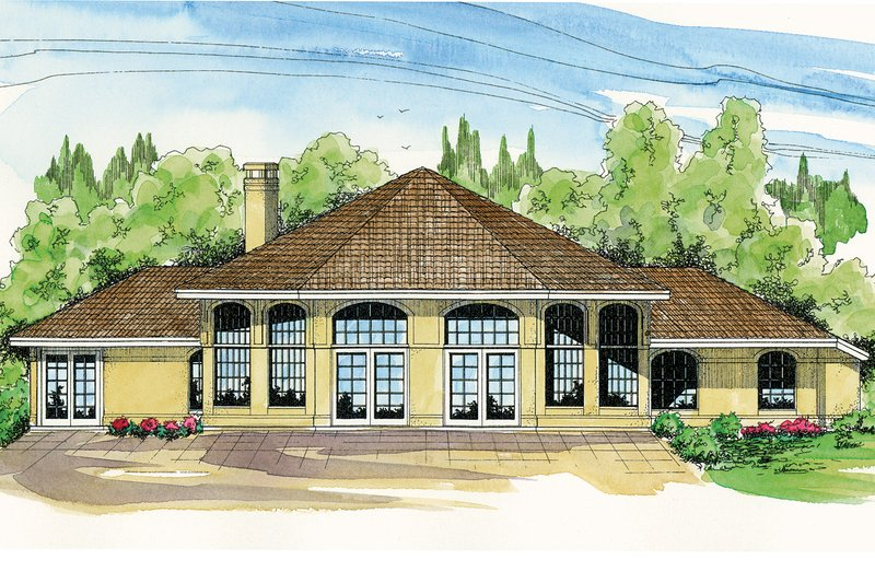 Dream House Plan - Exterior - Rear Elevation Plan #124-981