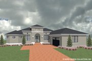Ranch Style House Plan - 3 Beds 3.5 Baths 2327 Sq/Ft Plan #930-487 Exterior - Front Elevation