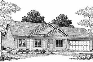 Traditional Exterior - Front Elevation Plan #70-102