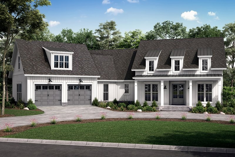 Farmhouse Style House Plan - 3 Beds 2.5 Baths 2301 Sq/Ft Plan #430-231 Exterior - Front Elevation