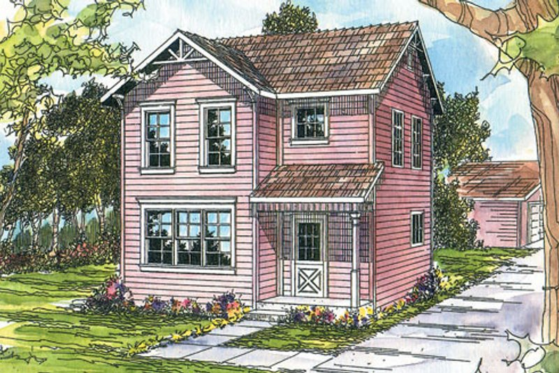 Traditional Exterior - Front Elevation Plan #124-310 - Houseplans.com