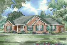 Architectural House Design - Traditional, Southern style home design, elevation