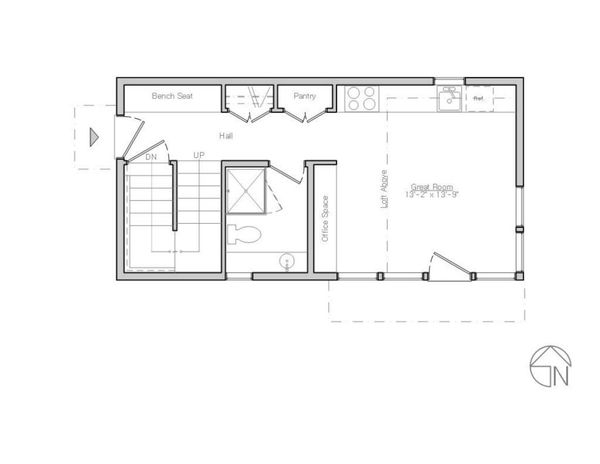 Modern Floor Plan - Main Floor Plan Plan #914-1