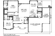 Craftsman Style House Plan - 2 Beds 2.5 Baths 1986 Sq/Ft Plan #70-1271 Floor Plan - Main Floor Plan