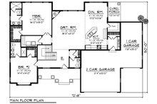 Craftsman Floor Plan - Main Floor Plan Plan #70-1271