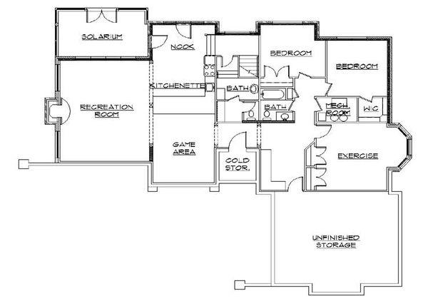 Home Plan - European Floor Plan - Lower Floor Plan #5-318