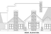 Craftsman Style House Plan - 4 Beds 3 Baths 3600 Sq/Ft Plan #17-2516 Exterior - Rear Elevation