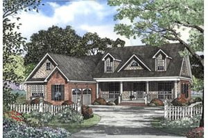 Country Exterior - Front Elevation Plan #17-2069