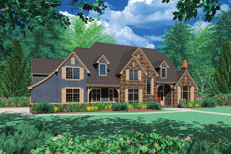 Home Plan - European Exterior - Front Elevation Plan #48-617