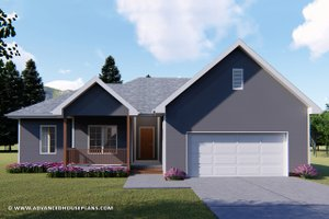 Ranch Exterior - Front Elevation Plan #455-224