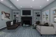 Craftsman Style House Plan - 4 Beds 2.5 Baths 2313 Sq/Ft Plan #1060-66 Interior - Family Room