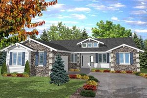 Bungalow Exterior - Front Elevation Plan #50-109
